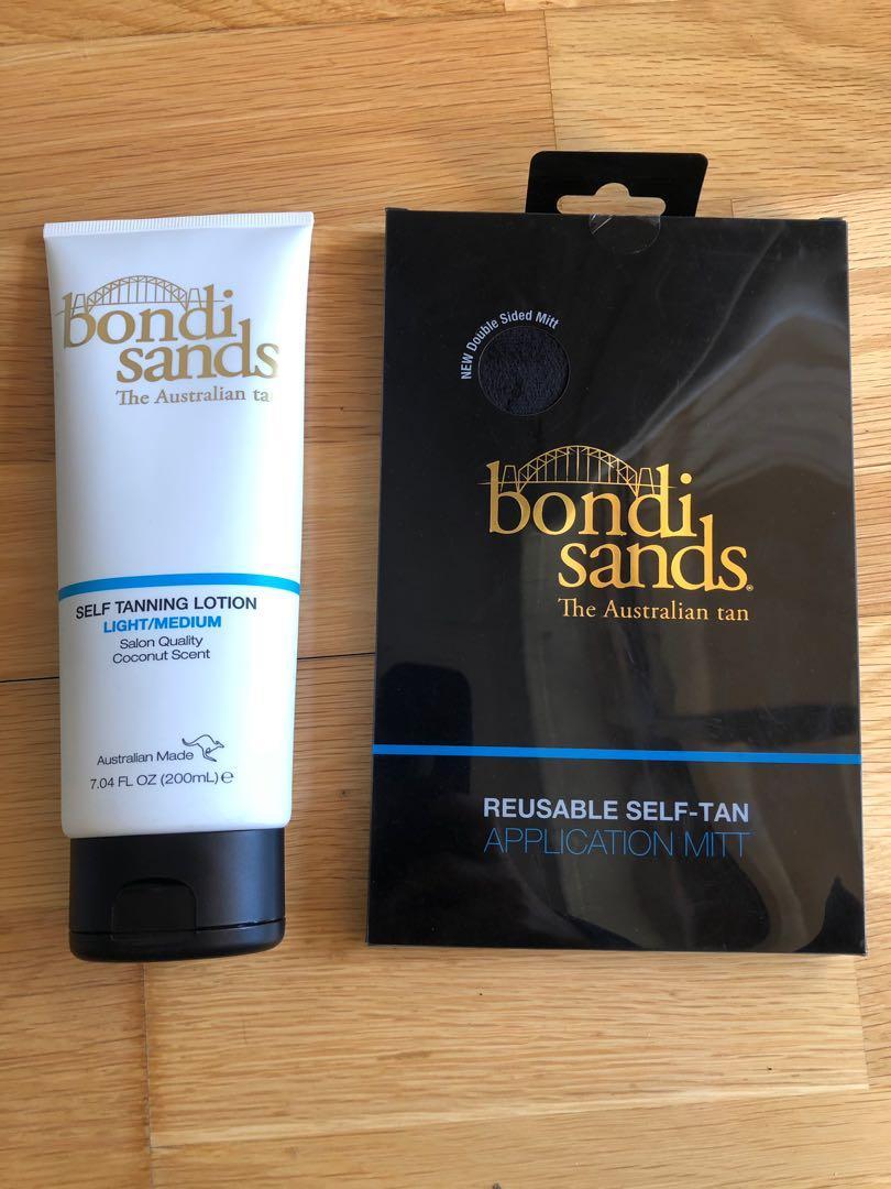 BRAND NEW Bondi Sands self tanning lotion with reusable application mitt