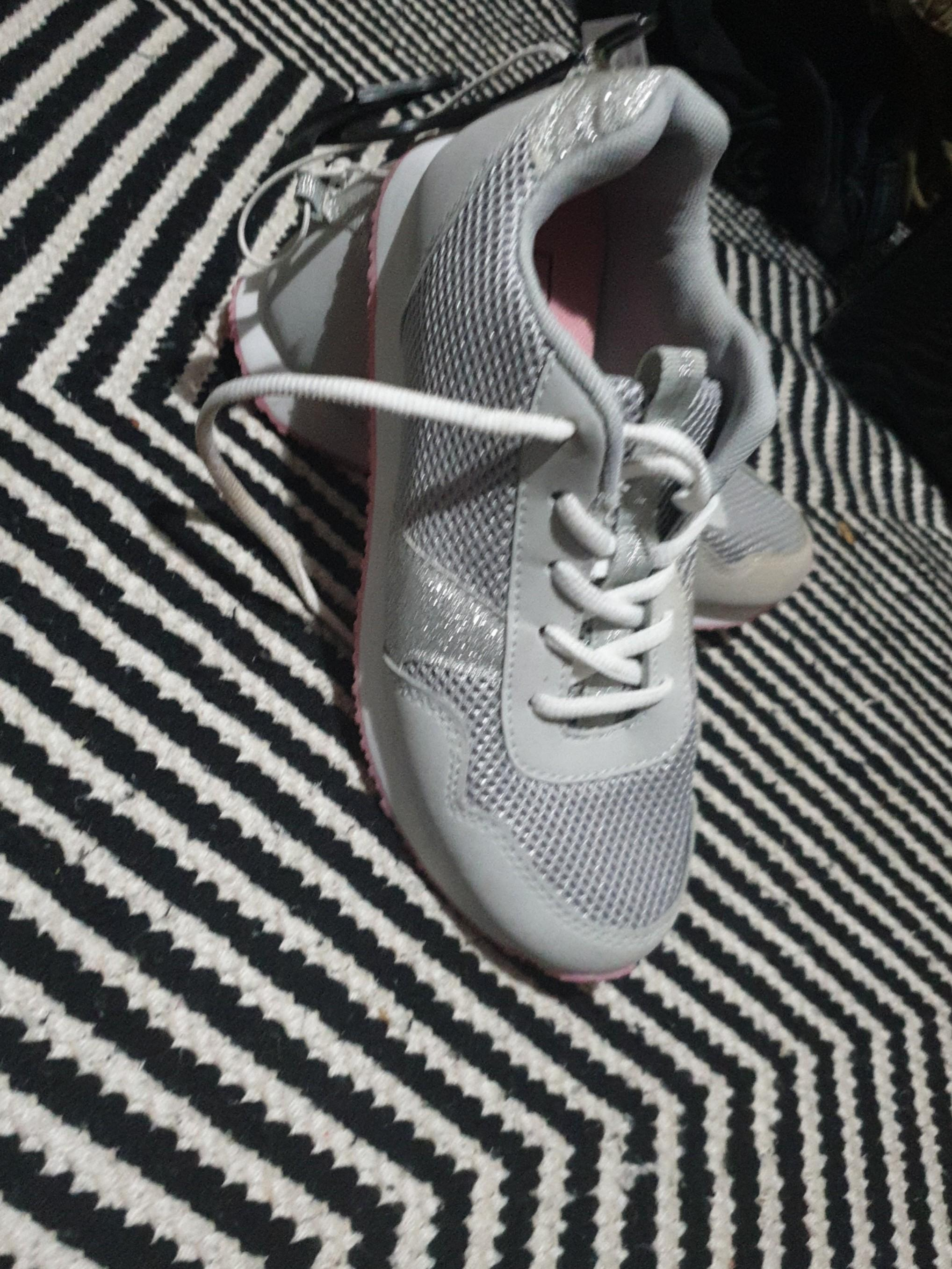 Brand new Grey and pink joggers with silver glitter sides and heels