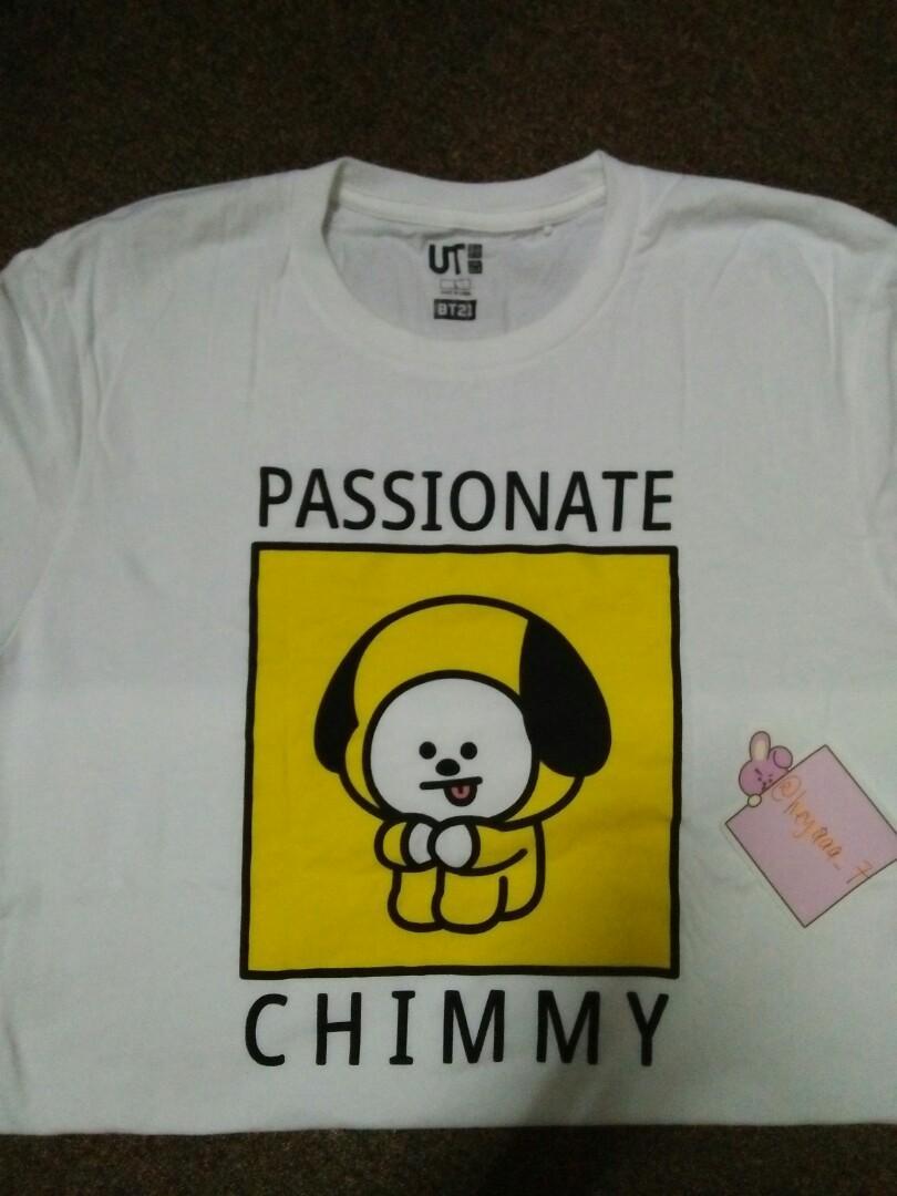 [URGENT SELLING!] BTS - BT21 uniqlo tshirt ( chimmy )