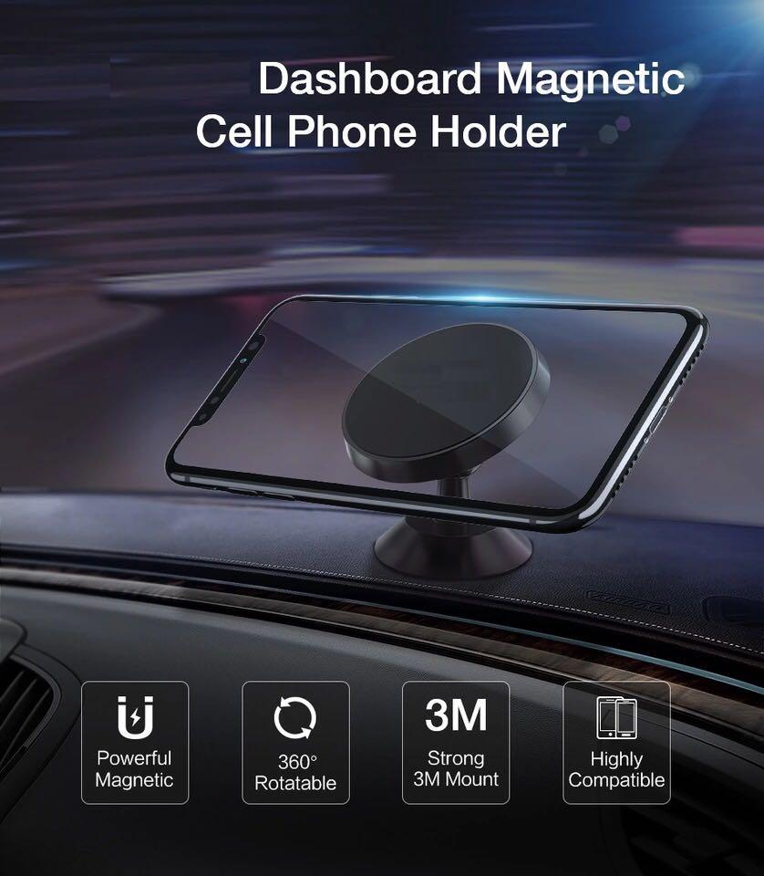 Car Phone Holder Magnetic Dashboard Phone Stand Iphone Samsung