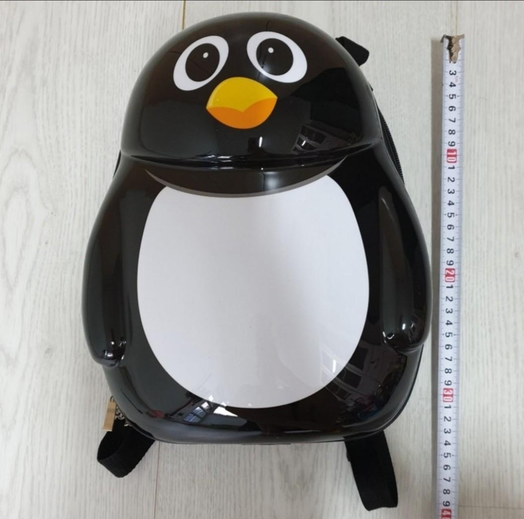 Children Backpack Luggage Bag - Penguin Hard Plastic Cover