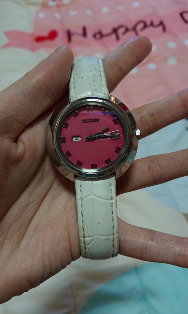 CITIZEN CRYSTAL SEVEN粉面機械錶