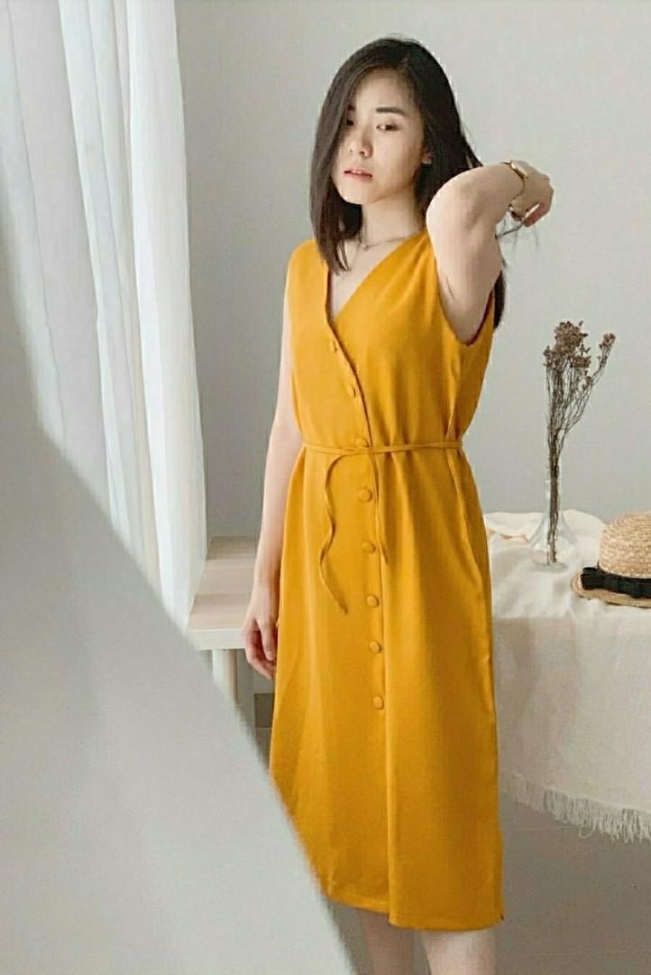 Ec CELLIA DRESS PINK l atasan fashion baju dress wanita