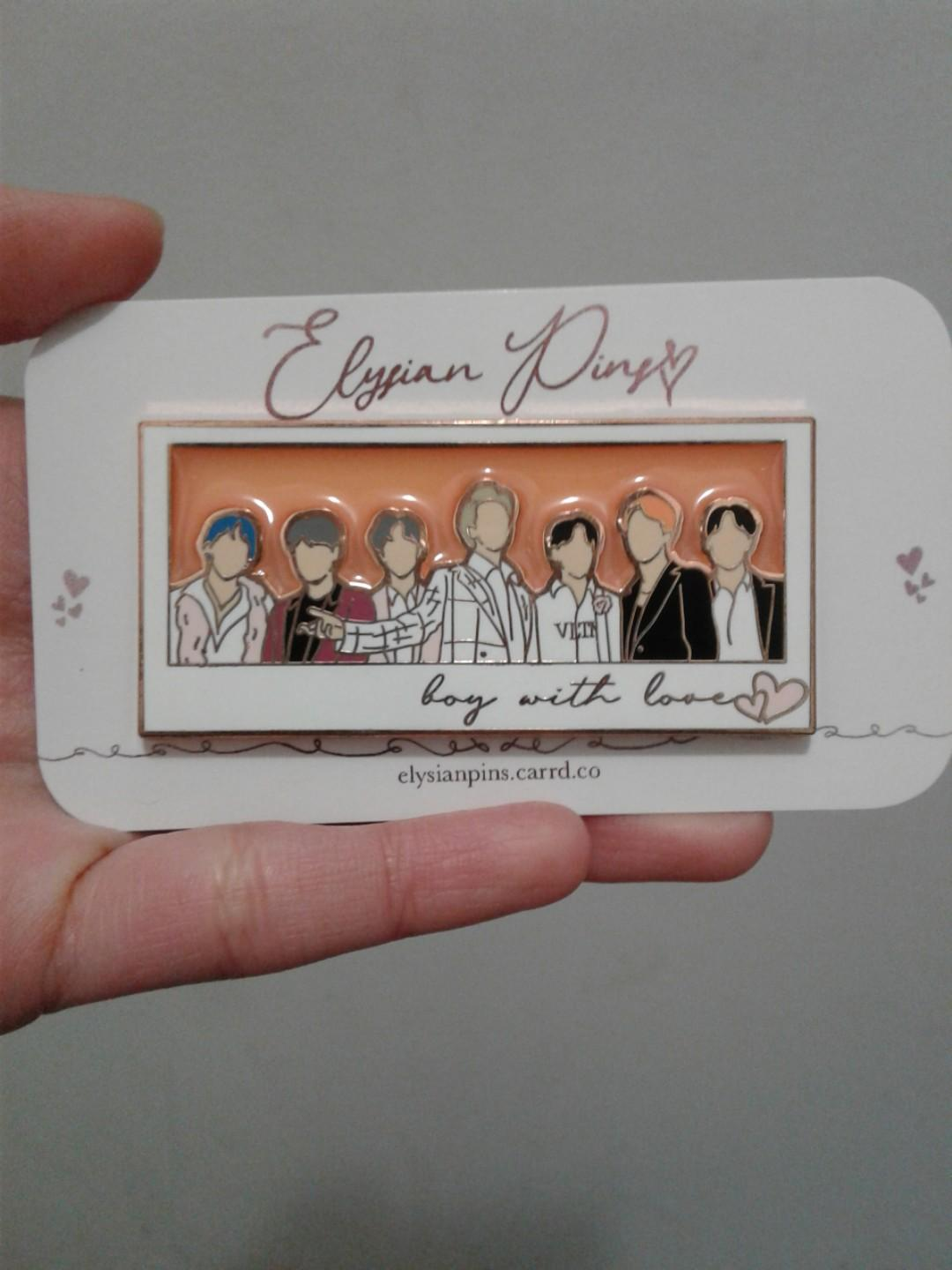 /@elysian.pins BTS BWL PIN with peach stained glass