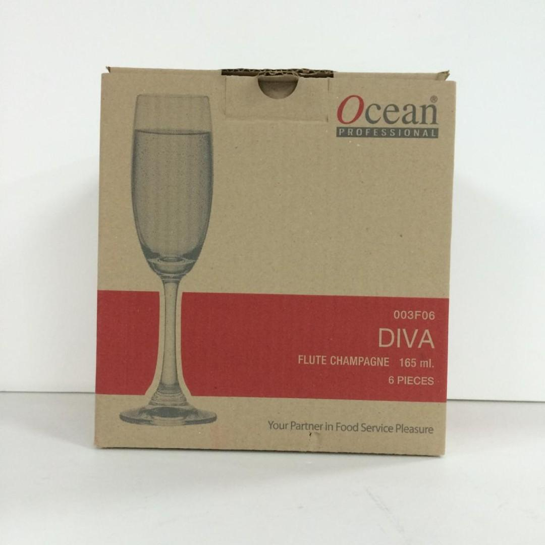 FLUTE CHAMPAGNE CUP 165 ml.   6 PCS IN A BOX.