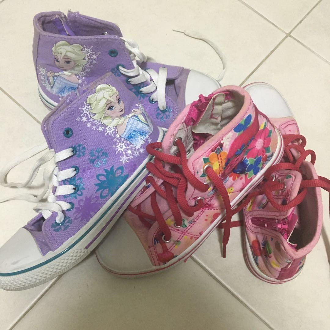 Frozen Troll girls canvass  shoes with shoe laces