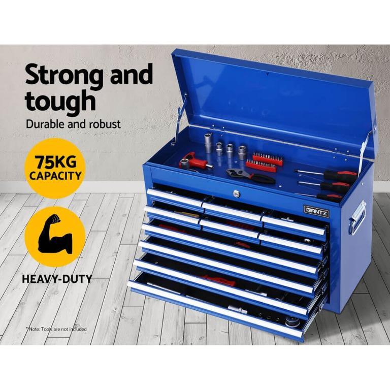 Giantz 10-Drawer Tool Box Chest Cabinet Garage Storage Toolbox Blue