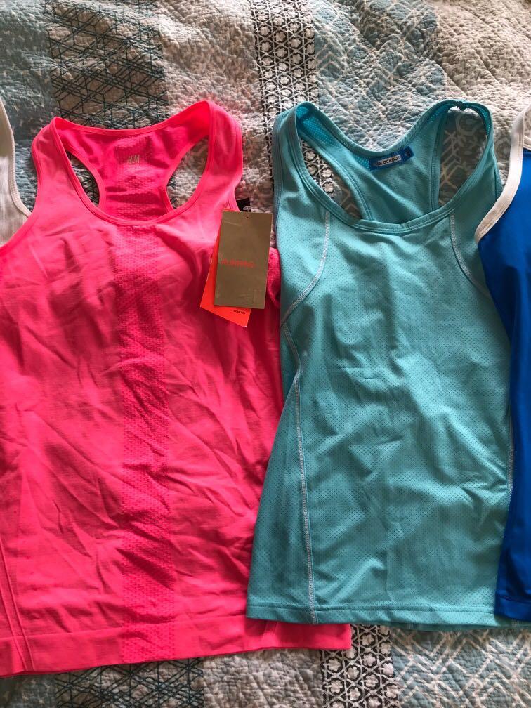 Gym/sports tops Nike, puma, Lorna Jane, running bare