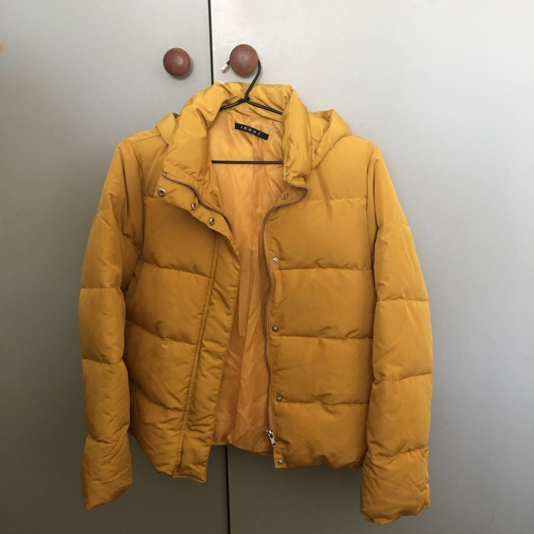 INGNI yellow puffer jacket