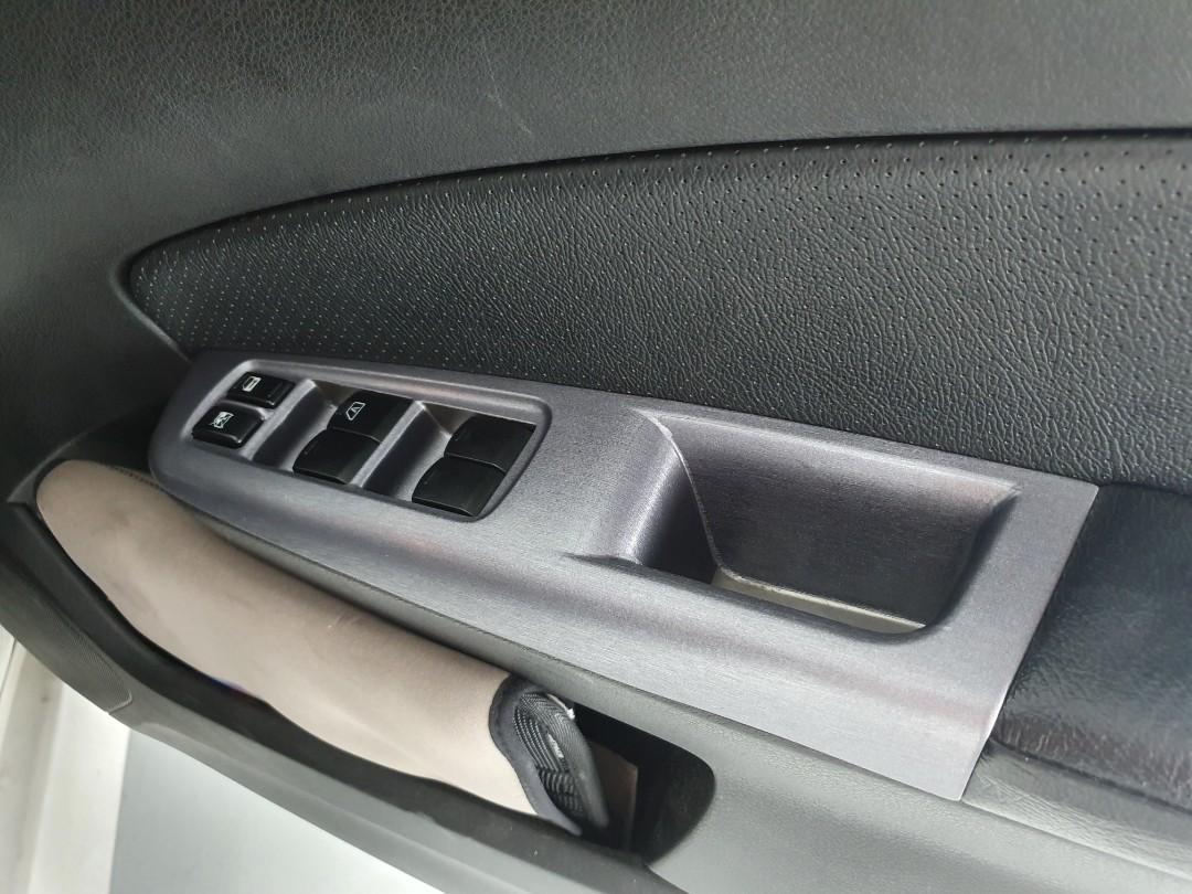 Interior door panel wrap