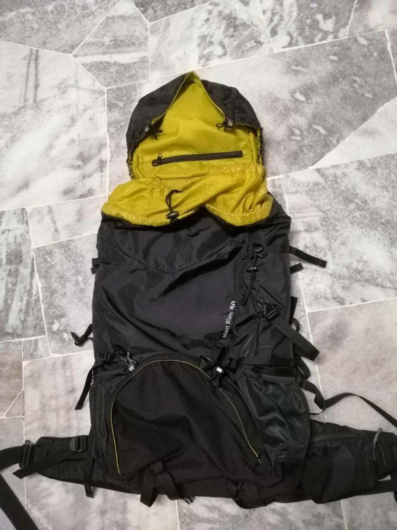 Lafuma Mont Blanc 50  Backpack - Black 50 Litre LFS5140