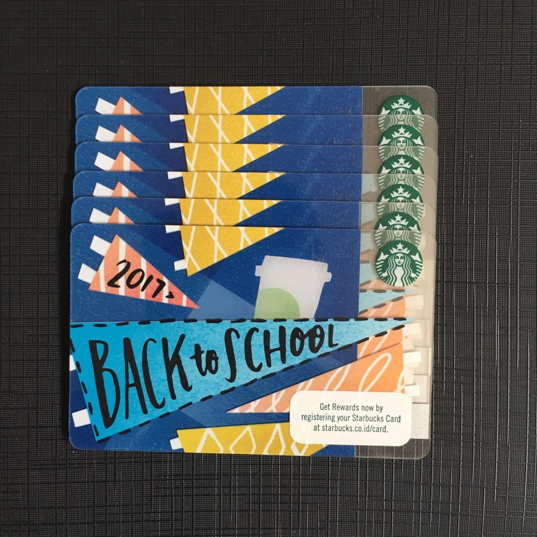 LIMITED EDITION STARBUCKS CARD BACK TO SCHOOL