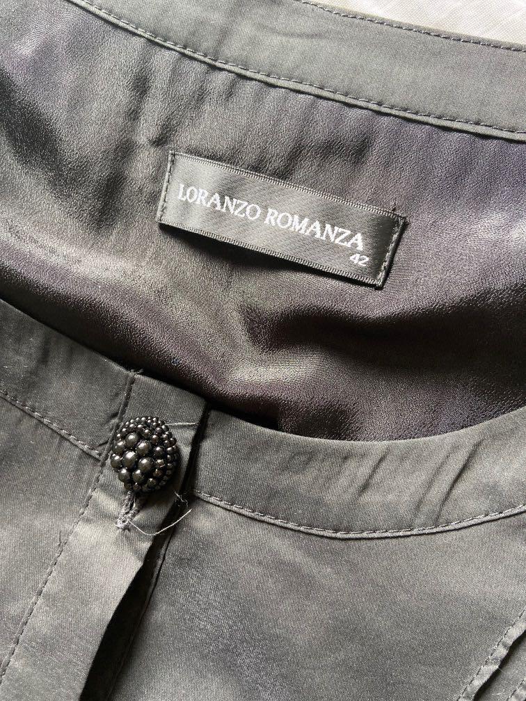 專櫃品牌LORANZO ROMANZA黑色傘狀長上衣  9成新