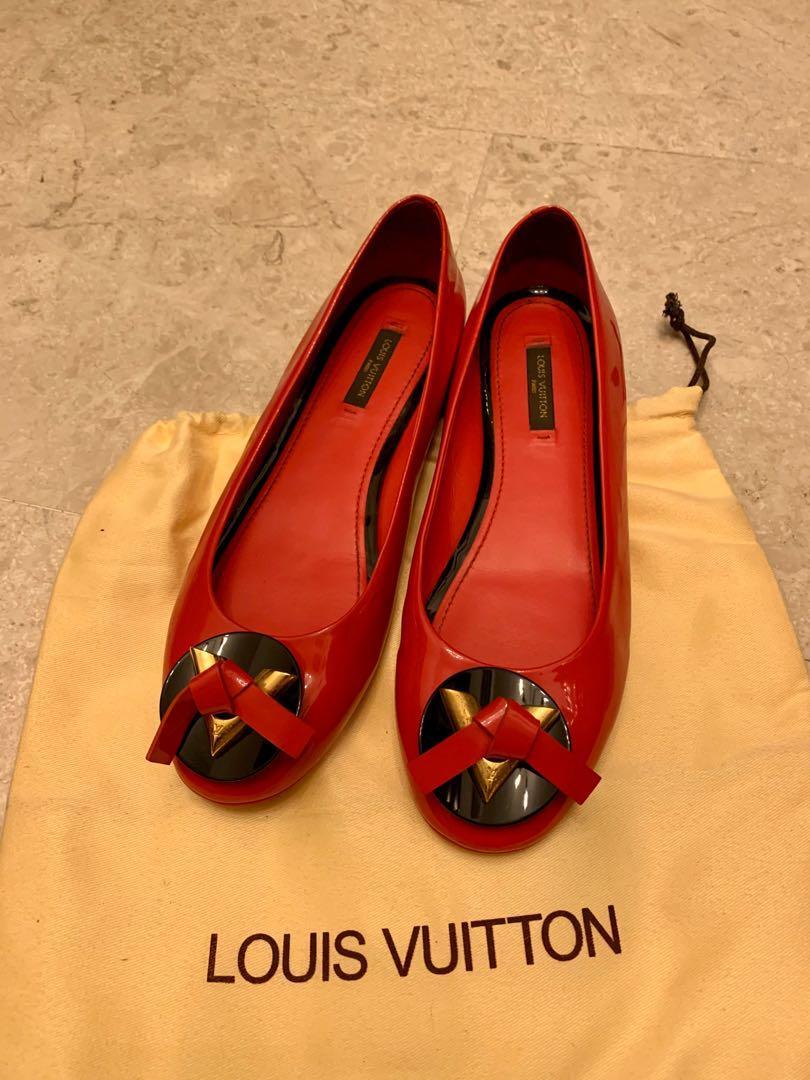 Louis Vuitton red flats