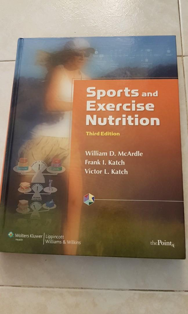 Mcardle Sports And Exercise Nutrition Books Stationery Textbooks Professional Studies On Carousell