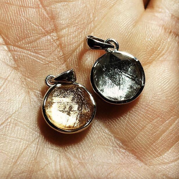 Meteorite 925 Silver Star of David ✡️ Pendant 10mm - Loket Batu Besi Bintang Angkasa