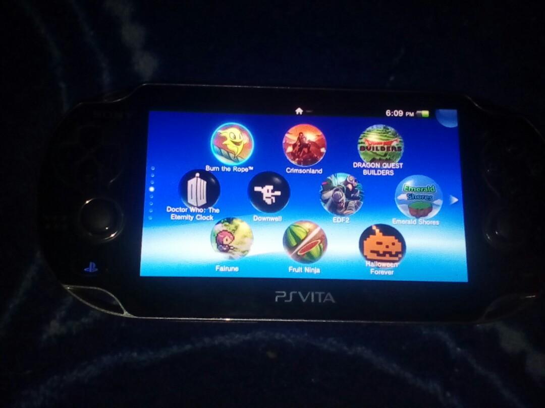 (Nego/Runding) Ps Vita 1k Henkaku Dengan 200+ Games