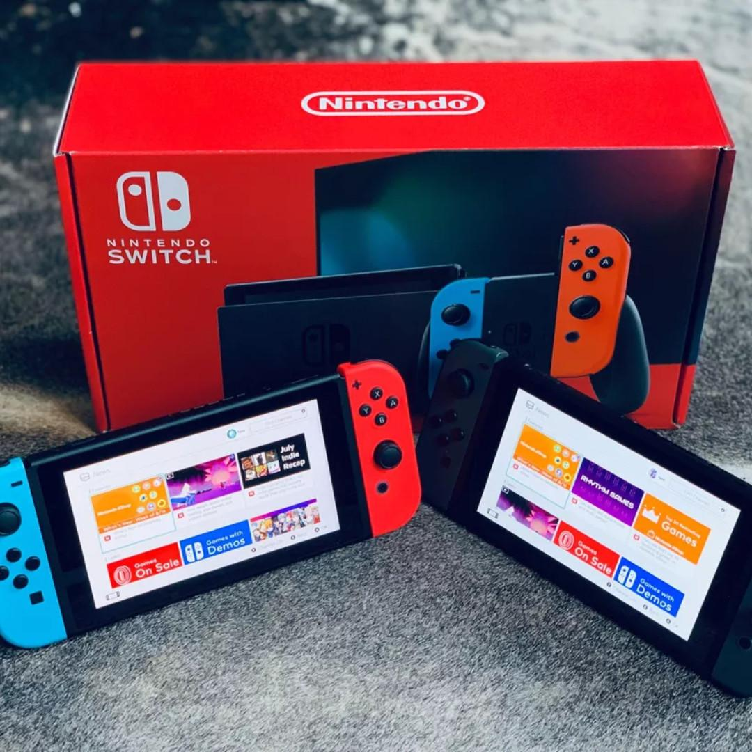 [NEW] NINTENDO SWITCH CONSOLE BATTERY UPGRADE NEW MODEL SYSTEM (NEON COLOR) (SEND FROM KOREA)