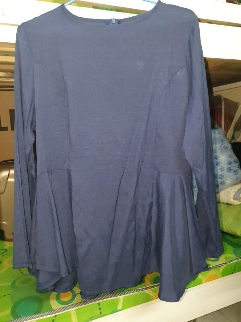 New without tag Blouse (Dark Blue) size L