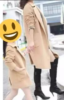 New~Mother & Girl Family Brown Autumn Coat