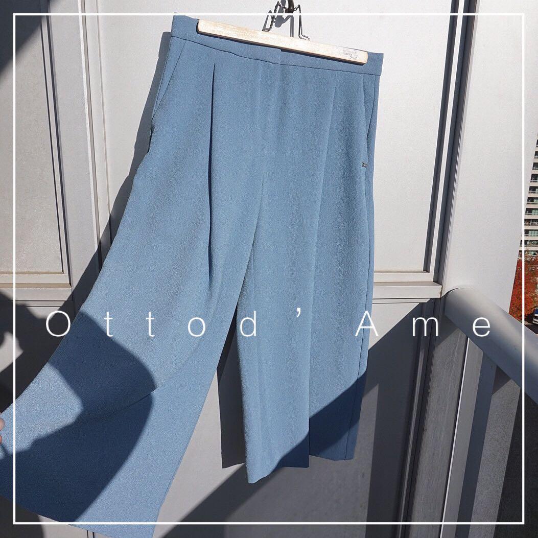 *NWT✨* ottod'Ame Cropped Wide Leg Pants Women Size 42 (US6)