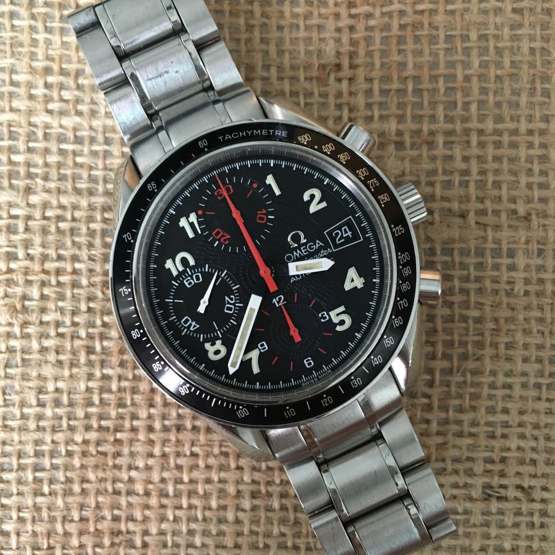 Omega Speedmaster Automatic Date Chronograph Vintage not Moonwatch Rolex Tudor Breitling