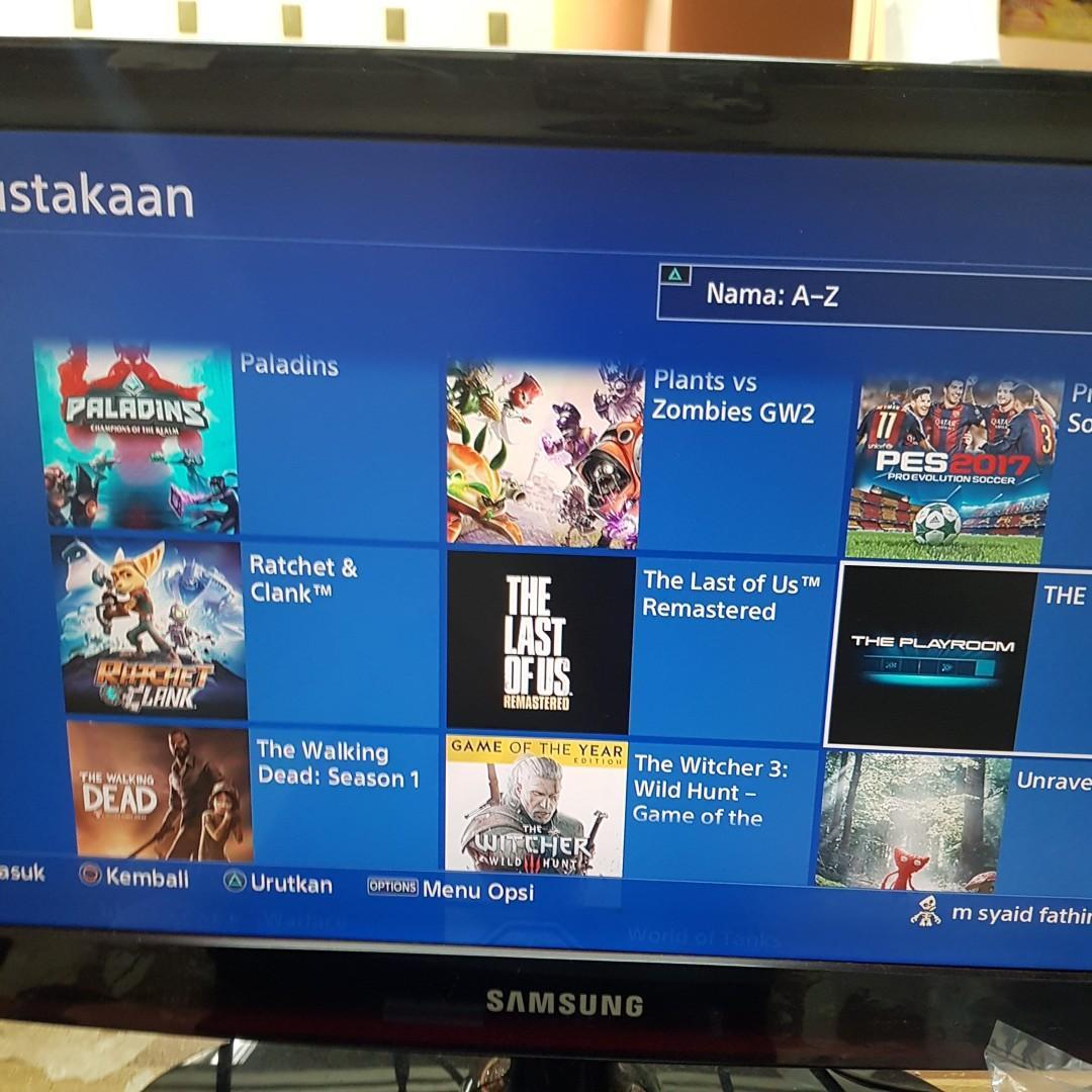 PS 4 SLIM 500GB PLUS HARDISK 1TB FULL GAME DIGITAL