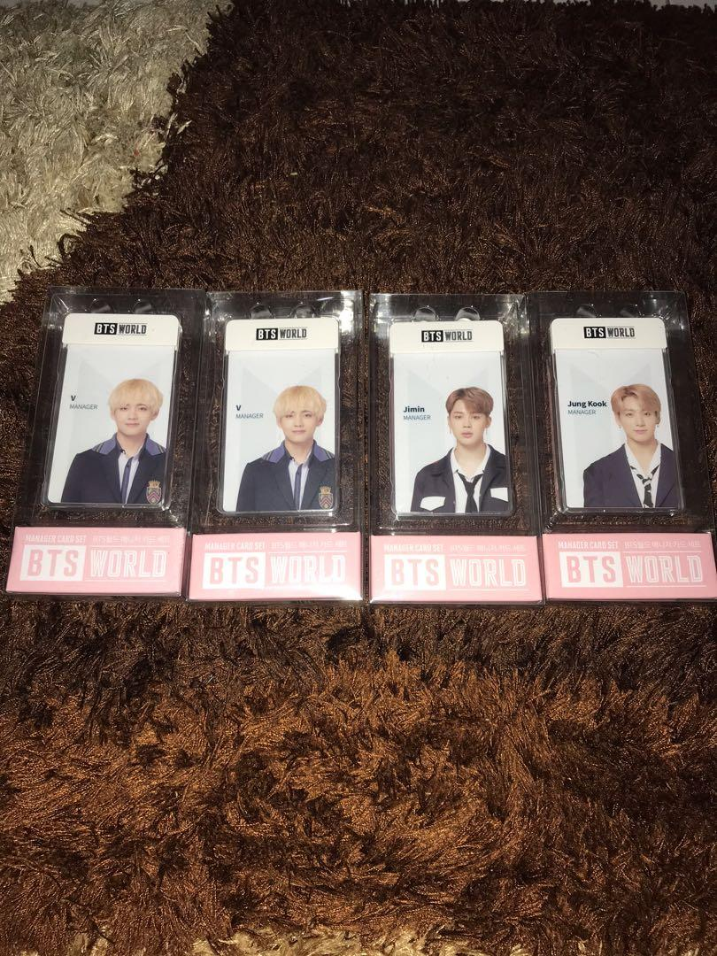 [READY STOCK] BTS WORLD MD COLLECTION - MANAGER CARD SET