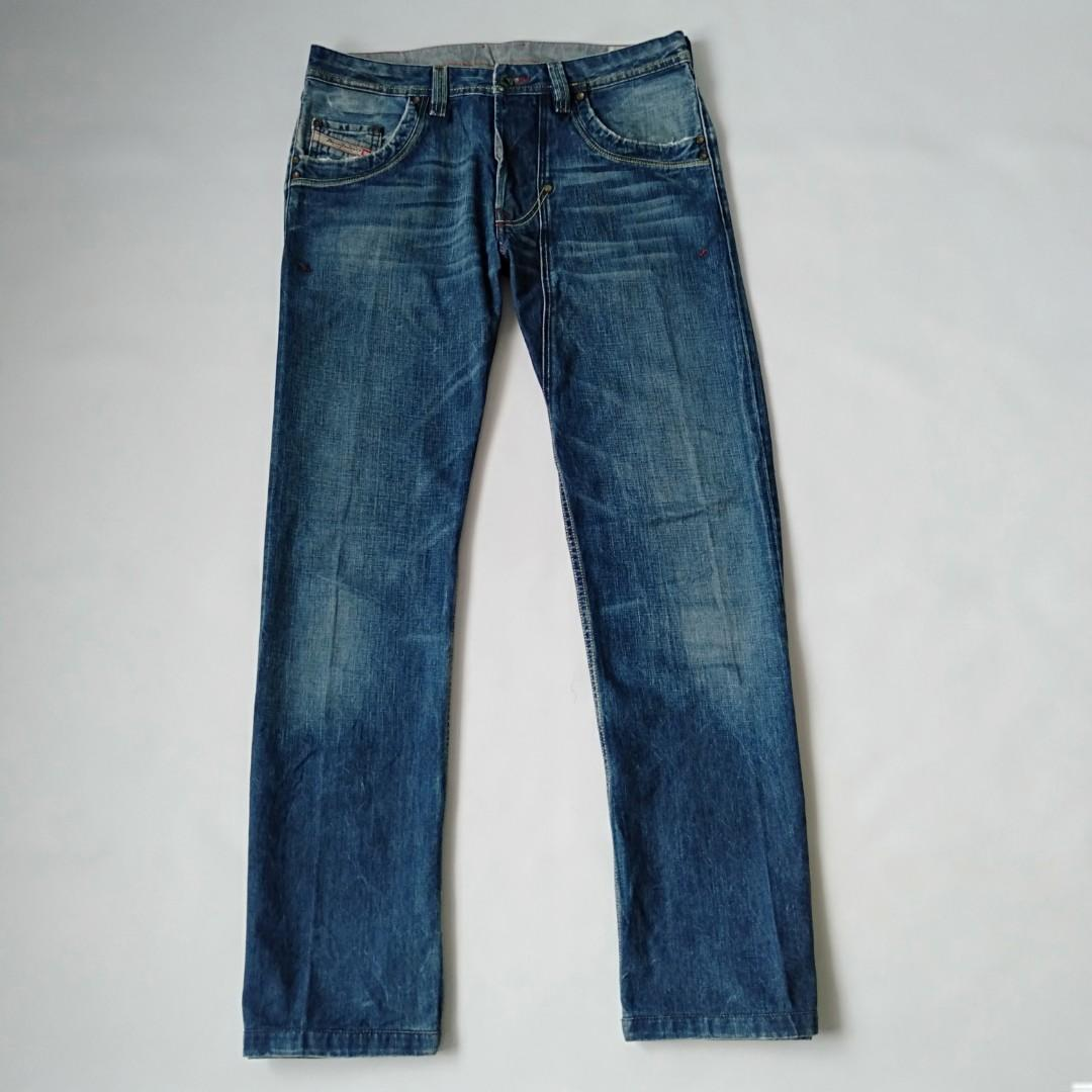 Ripped jeans diesel wash 00867original regular fit straight