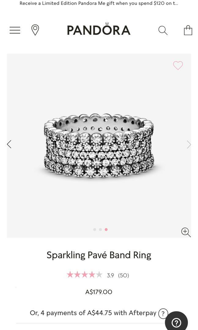 Sparkling pave band ring