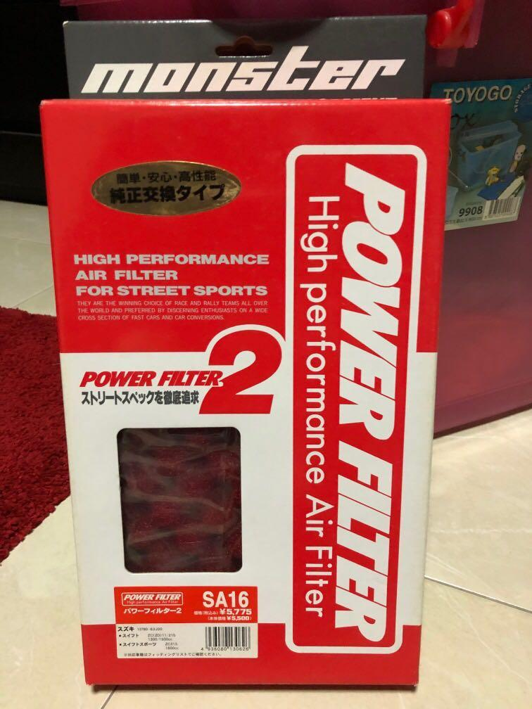 Suzuki Swift Sport high performance air filter