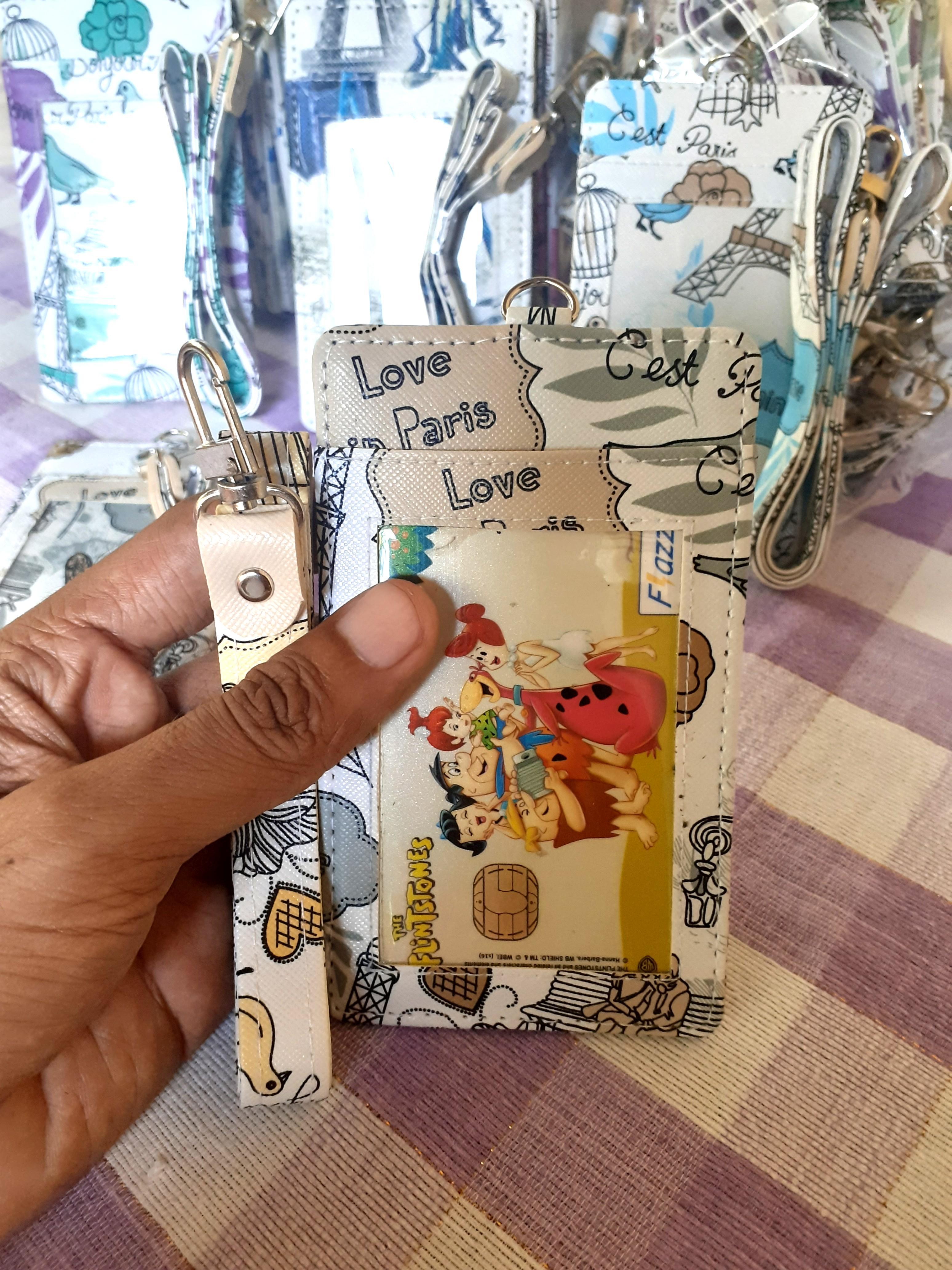 Tempat id card kulit kalep plus tali terlaris