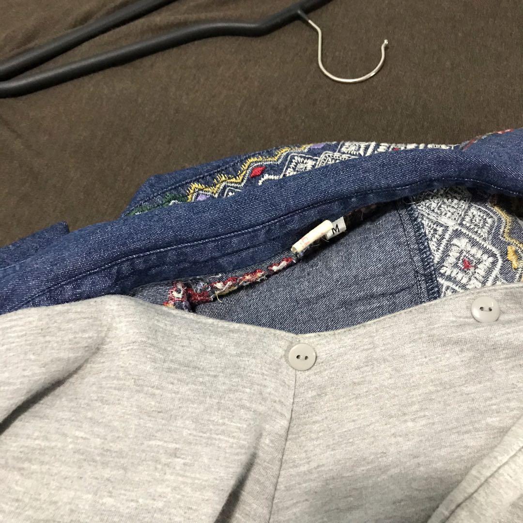 titicaca 日本 牛仔襯衫裙 外套 2way