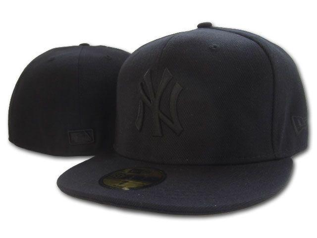 Topi builtup fitted NY New york yankees fullblack