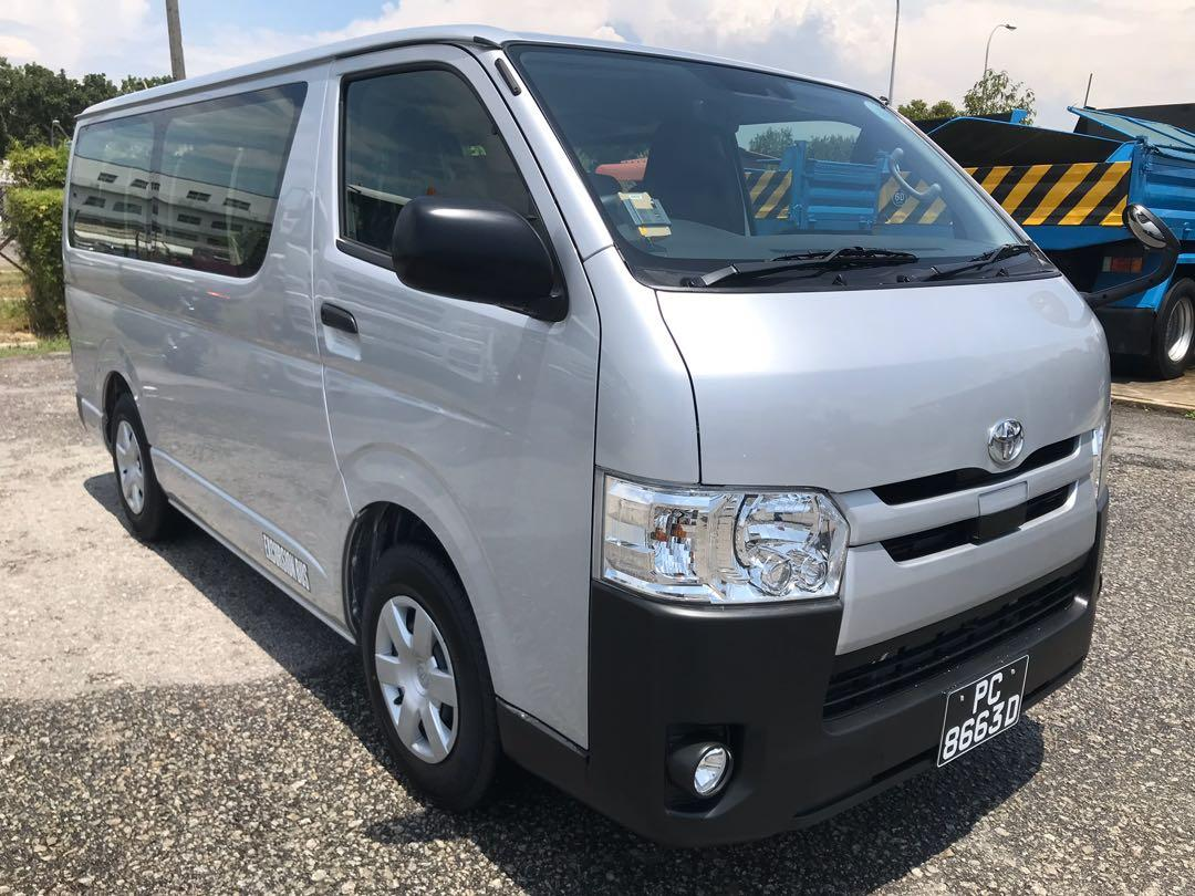 Unregistered Brand New Toyota Hiace 2.8A DX Sensing Standard Roof Commuter Bus Parallel Import Unit From Japan (11+1 Pax)