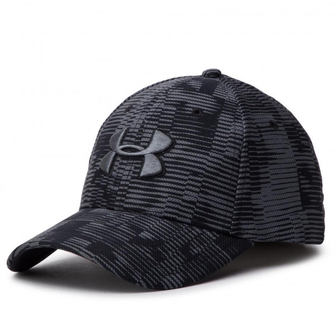 """UA Printed Blitzing 3.0 Stretch Fit Cap "" Under Armour UA 全新 黑色 斑紋 花紋 棒球帽 鴨舌帽 老帽 運動帽 球帽 帽子 1305038"
