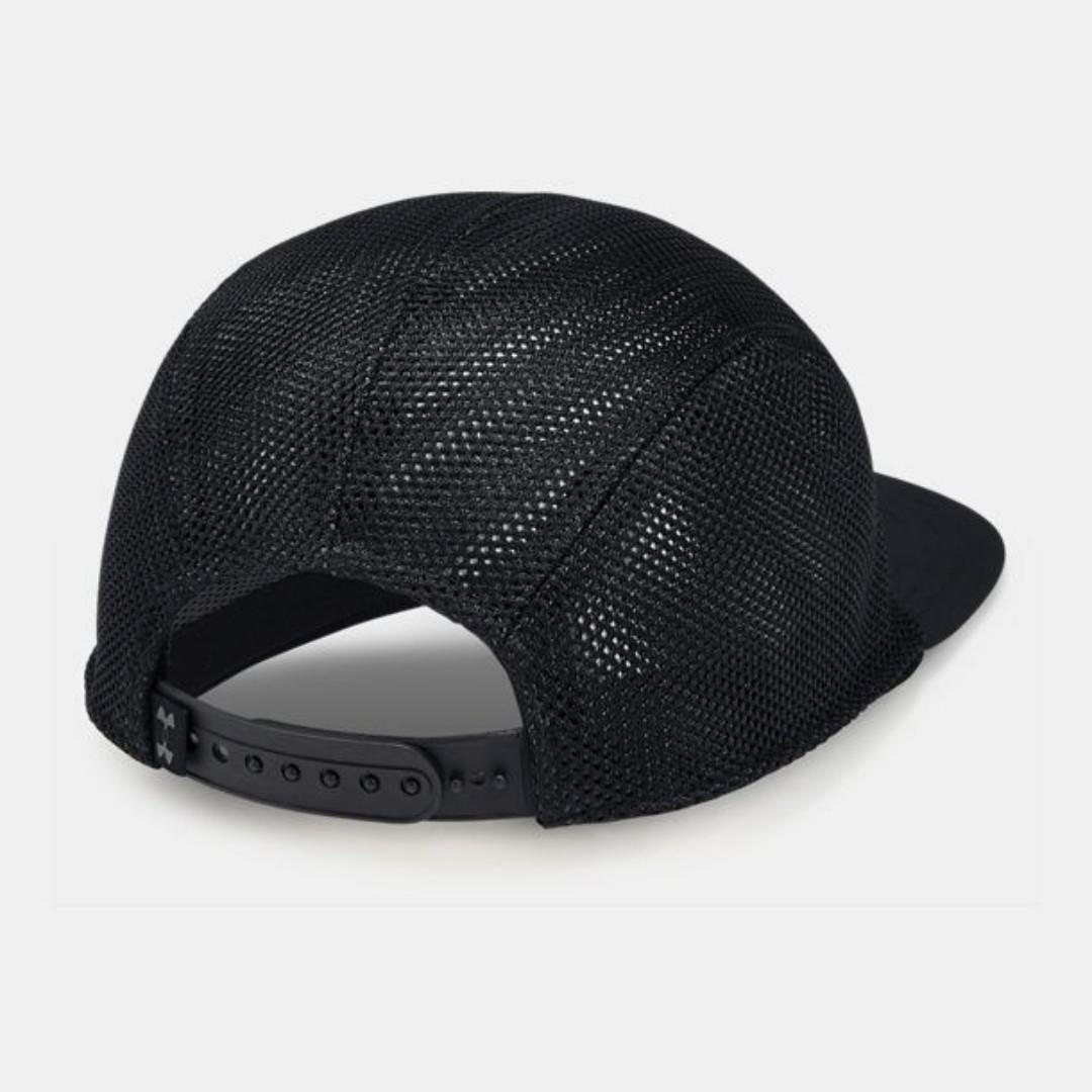 """UA Pursuit Elite Camper Cap"" Under Armour UA 全新 黑色 網眼 可調節 棒球帽 平沿帽 老帽 運動帽 球帽 網帽 帽子 1328660"