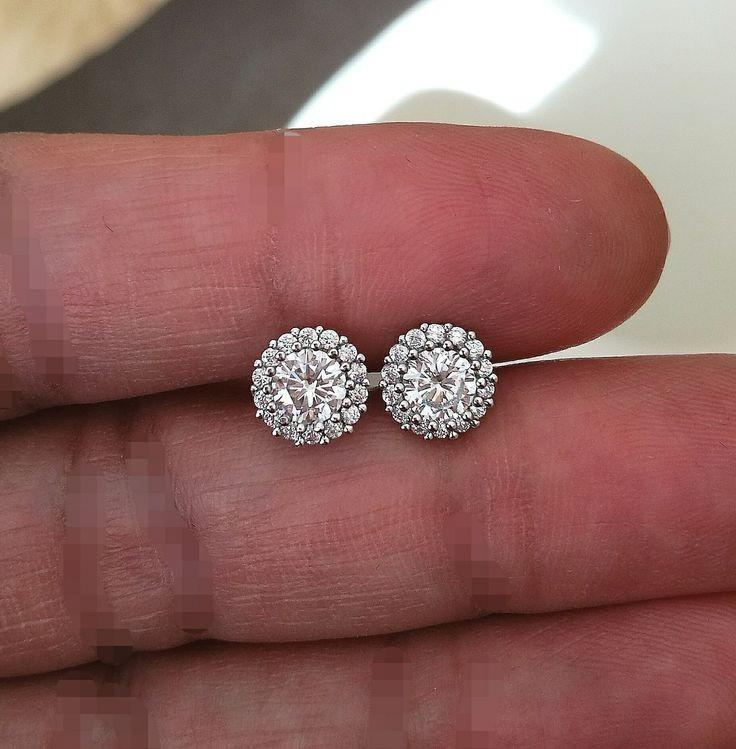 Unique Stud's | moissanaite Stud's | Weddind Gift | Engagement Stud's |