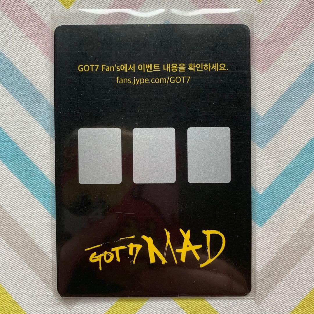 Wts Got7 Jackson Mad Unscratched Photocard Pc