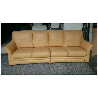 【健利傢俱行】2+2人沙發 真皮 四人沙發 中古四人沙發 二手四人沙發