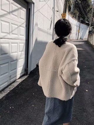 羔羊毛外套