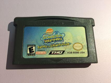 Gameboy  Advance Spongebob-Battle for bikini bottom