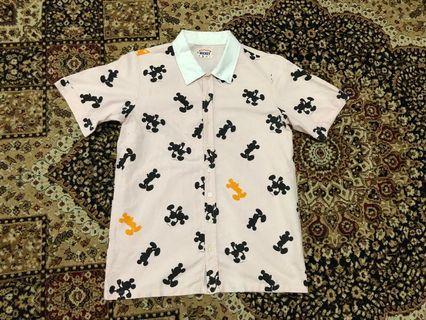 Mickey Full Print Shirt Size S