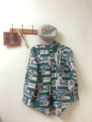 美式綠色標籤古著襯衫 #五折清衣櫃