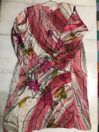 Exclusive batik silk kurung with beautiful beads