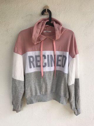 recined hoody Sweater l hip hop topshop zara