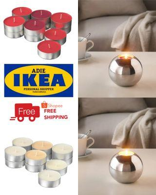 IKEA SINNLIG Scented Candle In Metal Cup - 59mm / 12pcs