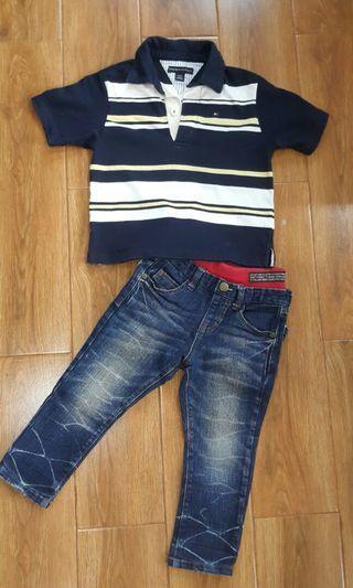 Set Jeans + Kaos polo