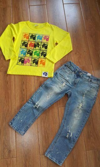 Set Jeans + Kaos