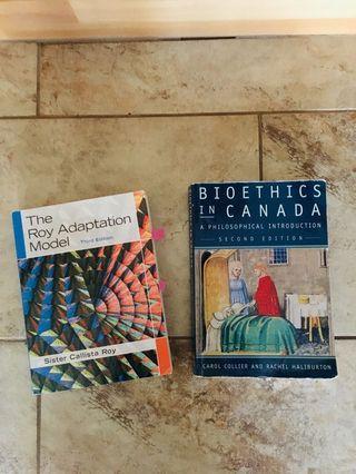 Ryerson University Bioethics and Nursing Roy Adaptation  Mldel Textbooks